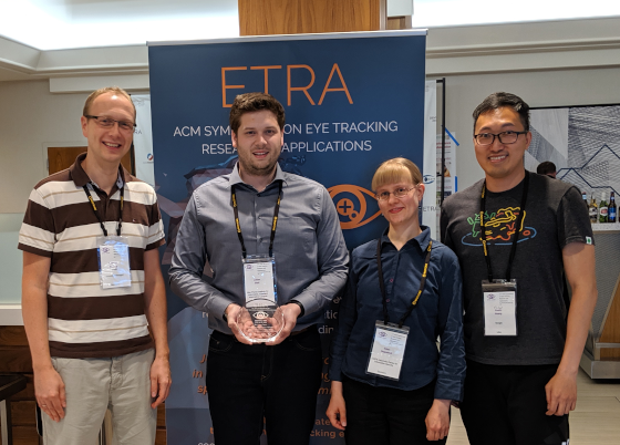Best paper and video awards at ETRA 2019