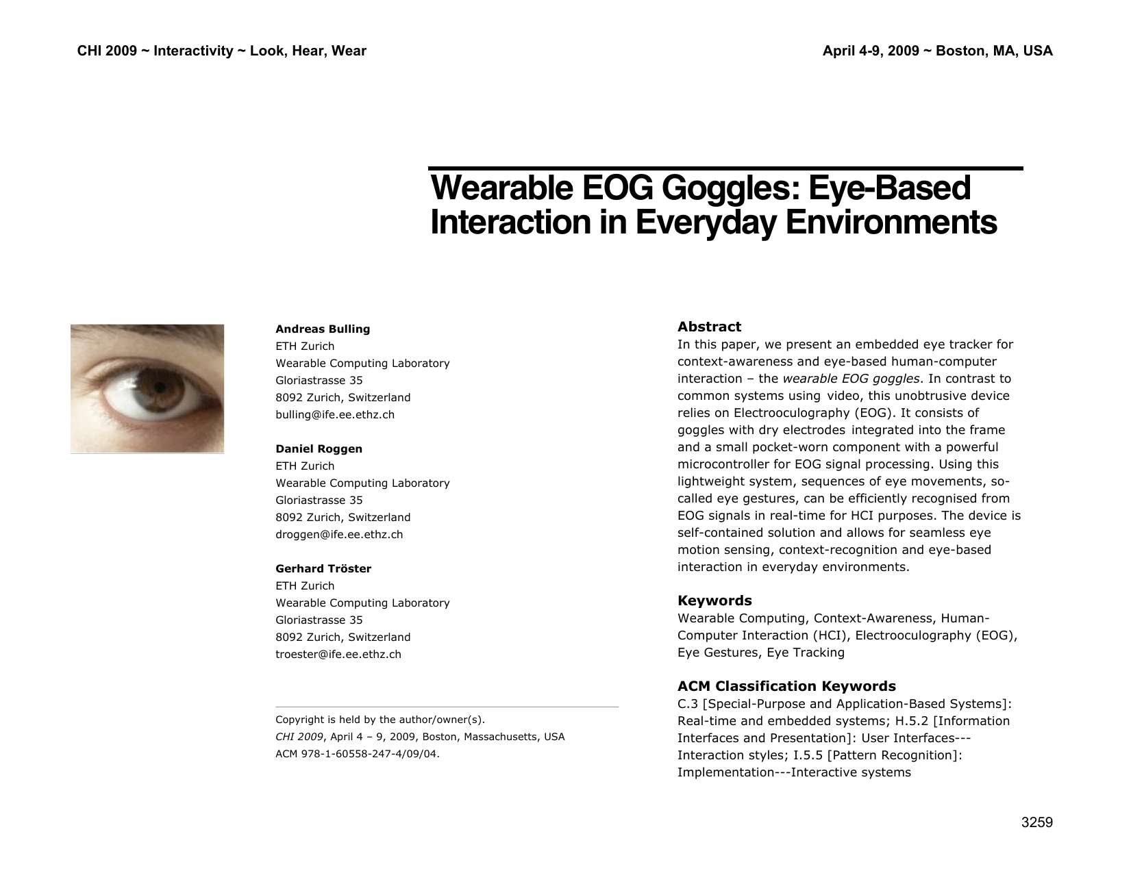 Wearable EOG Goggles: Eye-Based Interaction in Everyday Environments