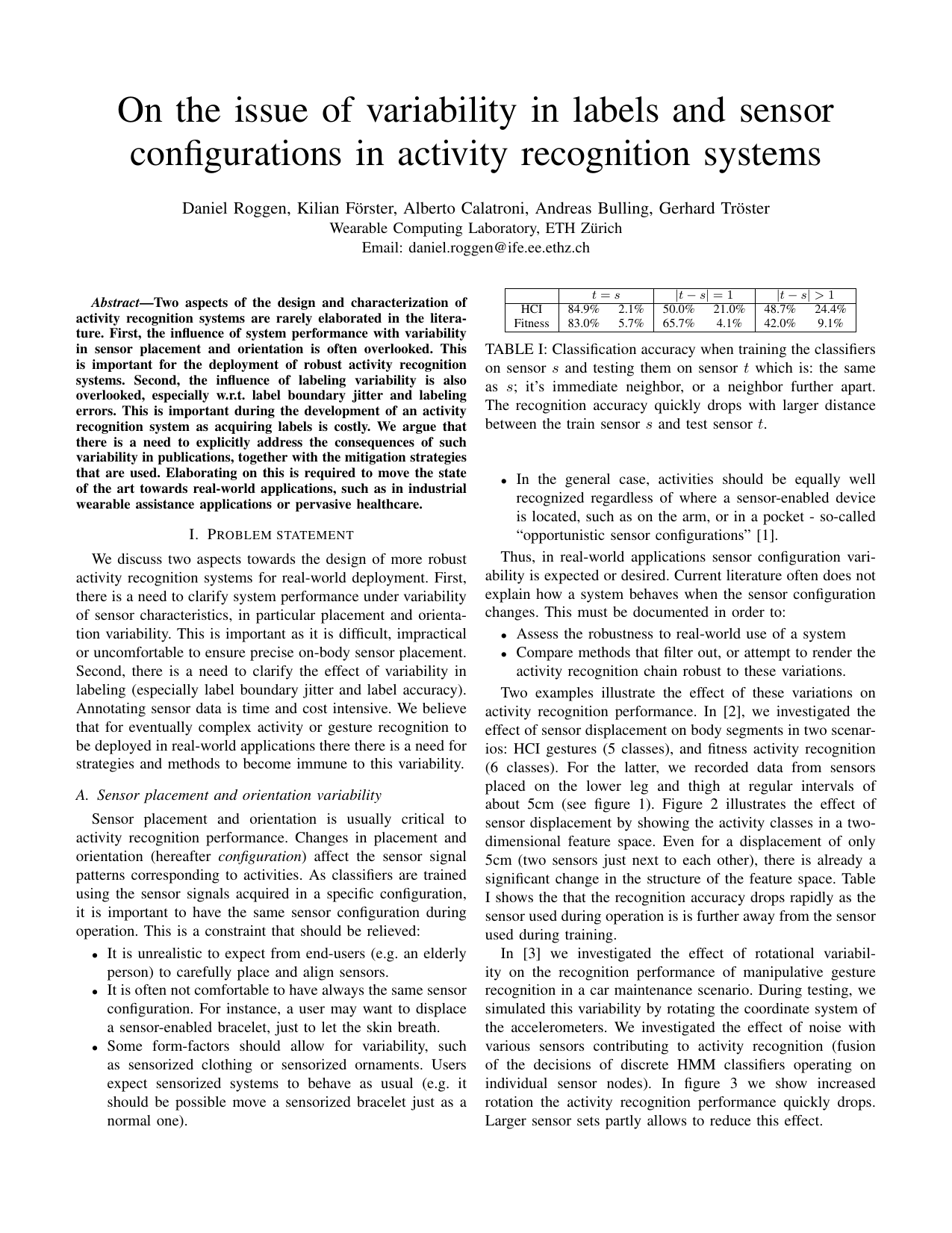 On the issue of variability in labels and sensor configurations in activity recognition systems